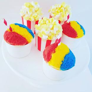 Circus - Popcorn and Snowcone Cupcakes