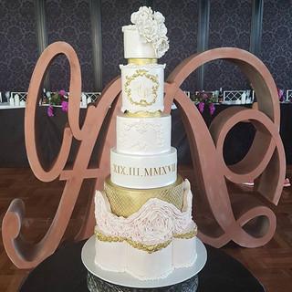 Soft Rufffle Wedding / Engagement  Cake