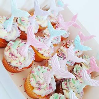 Mermaid Tail  Cupcakes