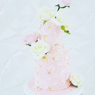 Pink Flowers Cake