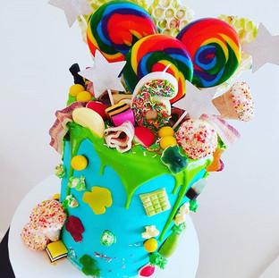 Candy Land Buttercream  Drip Cake