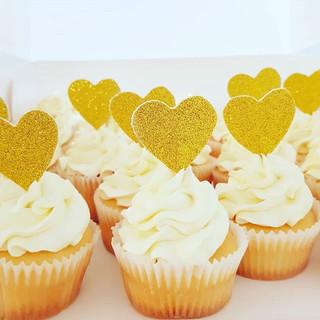 Glitter Heart Cupcakes