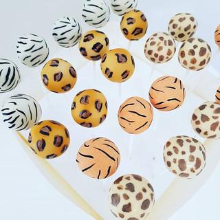 Jungle Animal Print  Cakepops