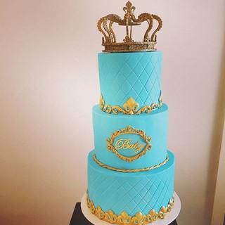 Prince Christening Cake