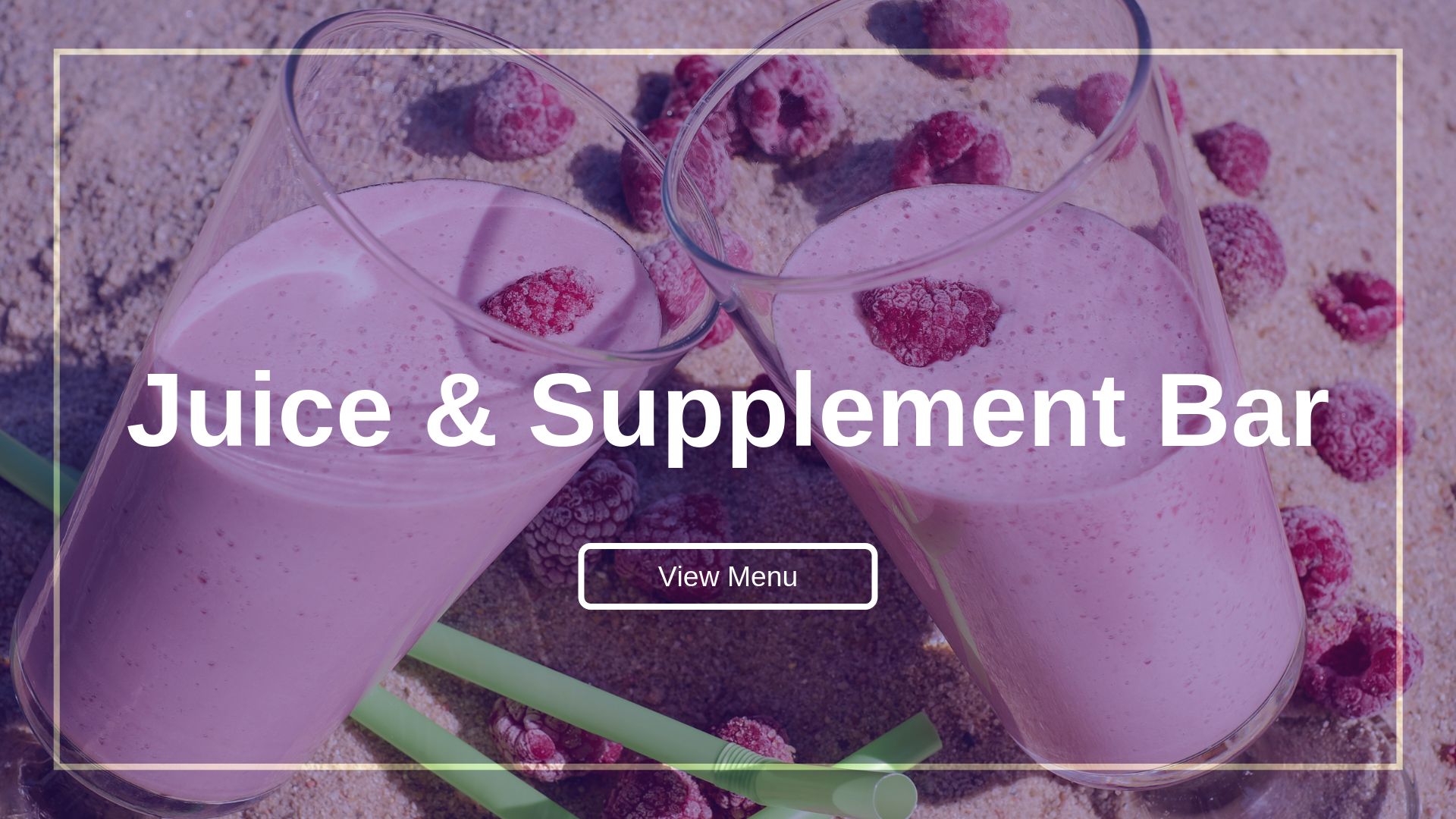 Juice and Supplement Bar