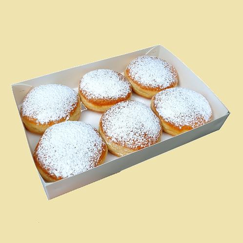 """Набір пончиків """"Берлінські"""", 6 шт. з сливовим джемом"""