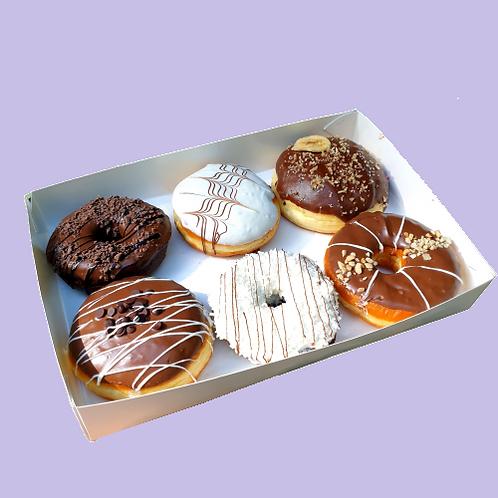 Набір пончиків з начинками (6 шт.)
