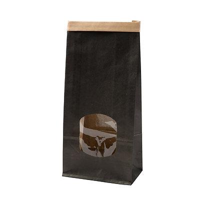 Broodzakjes met venster, PP Venster, M, 115 x 70 x 245 mm, Zwart (400 stuks)