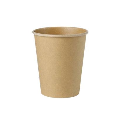 Kartonnen beker, Enkelwandig, 200 ml, ⌀80 mm, ongebleekt (1000 stuks)