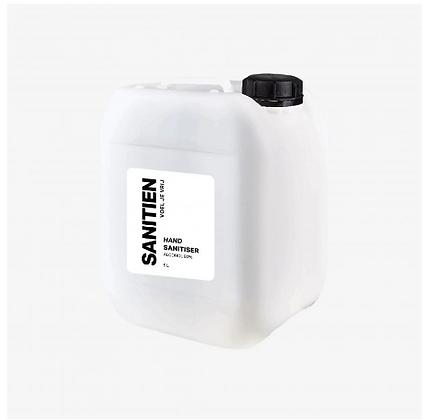 Sanitien Hand Sanitiser, 5000 ml, hervulbare fles (1 stuk)