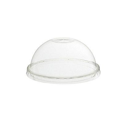 Deksel - Transparante cups, Koepelvormig, Gat voor rietje, ⌀90 mm (1000 stuks)