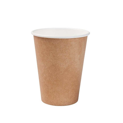 Kartonnen beker, Enkelwandig, 300 ml, ⌀90 mm, Bruin (1000 stuks)