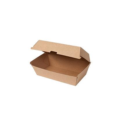 Scharnierend Deksel Box, Bruin, 600 ml, 214 x 114 x 85 mm (200 stuks)