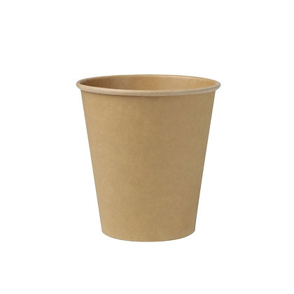 Kartonnen beker, Enkelwandig, 250 ml, ⌀90 mm, ongebleekt (1000 stuks)