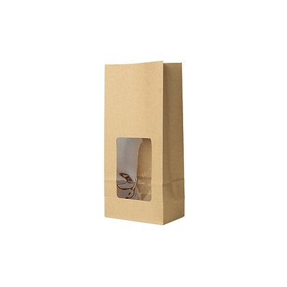 Broodzakjes met venster, PLA Venster, M, 110 x 60 x 235 mm (500 stuks)