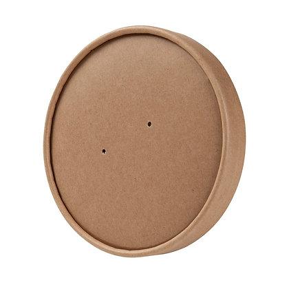 Deksels voor geribbelde Soep Bekers, met Membraam, ⌀115 mm (500 stuks)