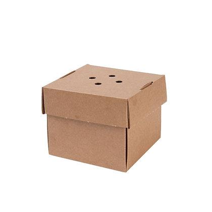 Burger Box, Bruin, 130 x 130 x 100 mm (100 stuks)