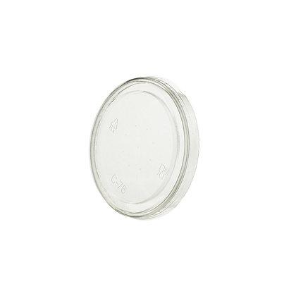 Deksel voor Transparante cups, Dicht, ⌀76 mm (1000 stuks)