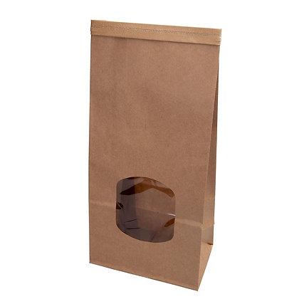 Broodzakjes met venster, PP Venster, M, 115 x 70 x 245 mm (400 stuks)