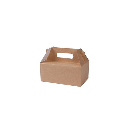 Lunch boxen met handvaten, S, 200 x 130 x 90 mm (100 stuks)