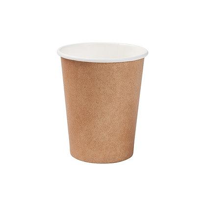 Kartonnen beker, Enkelwandig, 200 ml, ⌀80 mm, Bruin (1000 stuks)