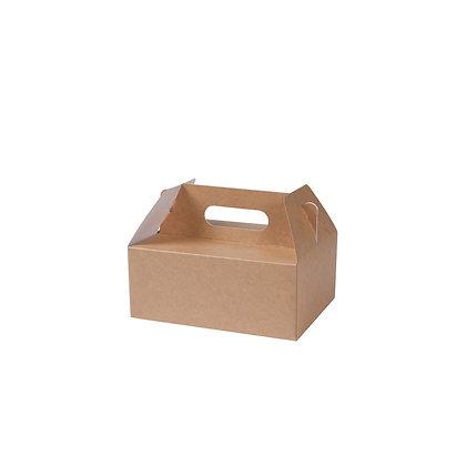 Lunch boxen met handvaten, M, 210 x 170 x 155 mm (100 stuks)