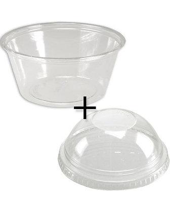 Yoghurt Cup Combi (Cup + Koepelvormig Deksel), 200 ml (1000 stuks)
