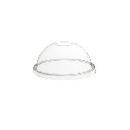 Deksel - Transparante cups, Koepelvormig, Gat voor rietje, ⌀78 mm (1000 stuks)