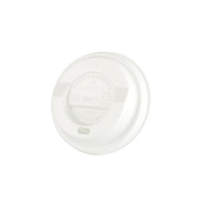Deksel voor Kartonnen beker, ⌀80 mm, Wit (1000 stuks)