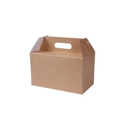 Lunch boxen met handvaten, L, 250 x 150 x 150 mm (75 stuks)