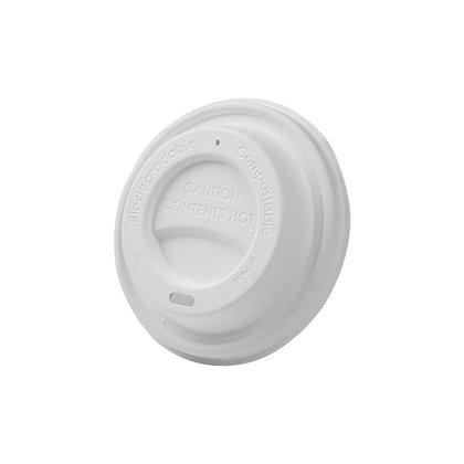 Deksel voor Kartonnen beker, ⌀90 mm, Wit (1000 stuks)