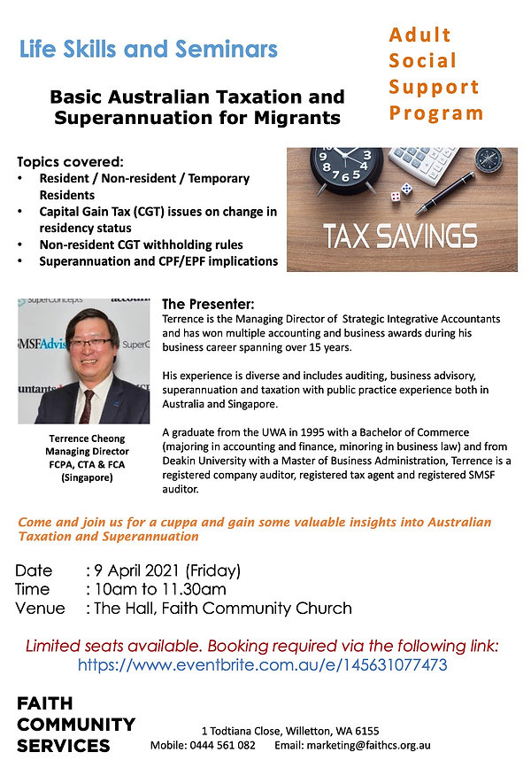 Terrence Chong Tax And Superannuation Ta