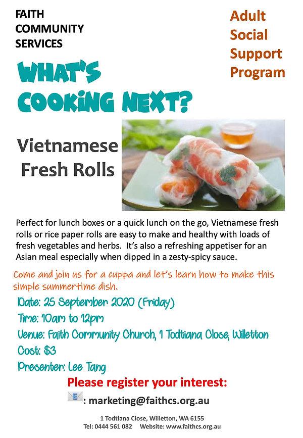 25 Sept 20 Vietnamese Fresh Rolls by Lee