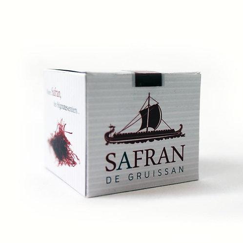 Boite de safran de Gruissan, produit du terroir épice