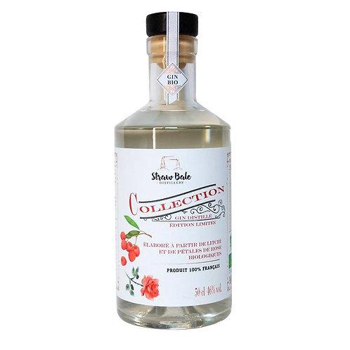 Bouteille Gin rose litchi strawbale distillerie artisanale