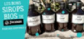 Délicieux sirops artisanaux bio livrés sur Narbonne et Gruissan