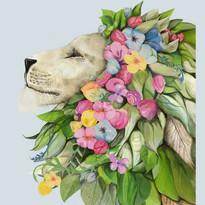 Garden Lion for book cover