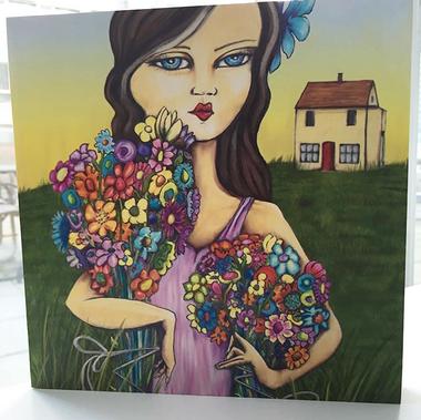 Flower Girl on Wood