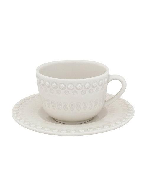 Tasse à café / thé et soucoupe sandy grey