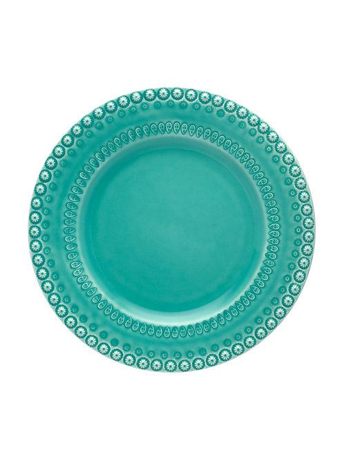 Assiette plat 34cm acqua green