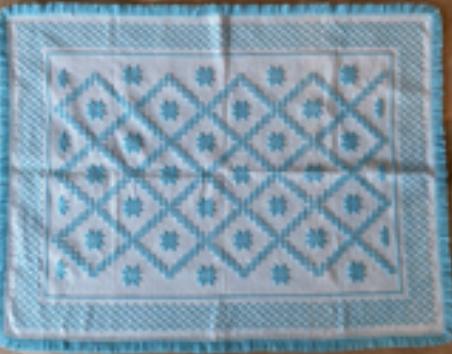 Tapis Turquoise (laine)  - Tissage manuel de Castelo Branco