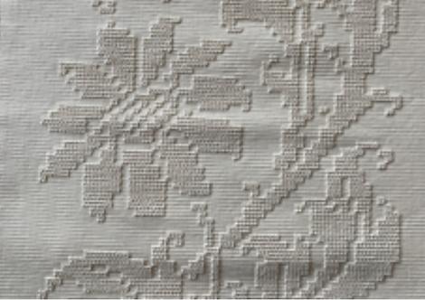 Naperon long : Floral (cotton)