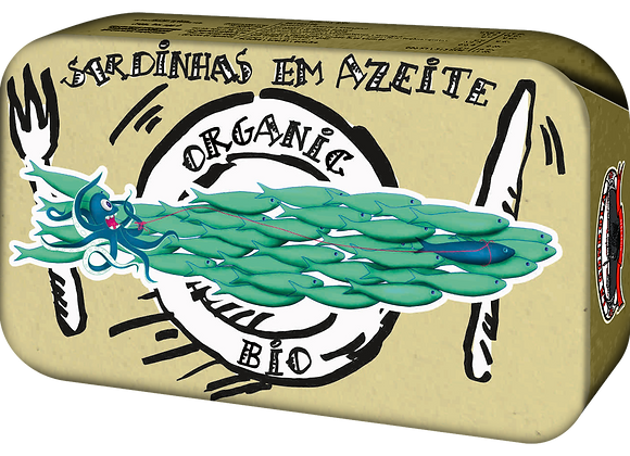 GONDOLA DESIGN - Organic Sardine à huile d´olive, 120 gr