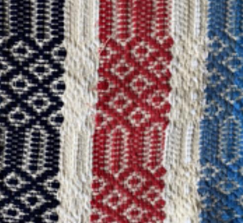 Couverture Hippie Chic (cotton et laine)  - Tissage manuel de Castelo Branco