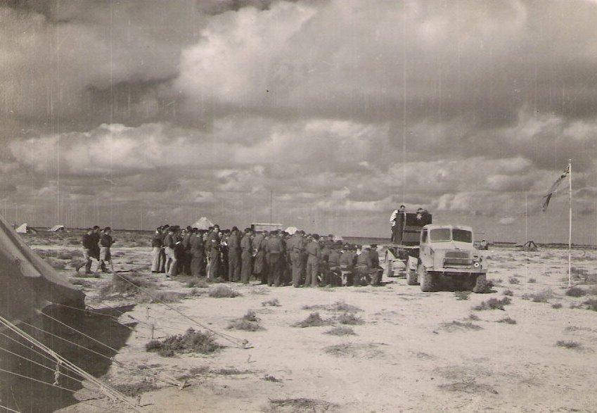 Xmas day service at gambut 1942