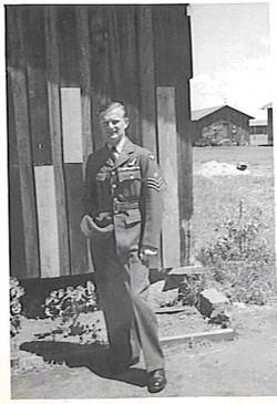 Phil Fisher outside barracks