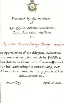 Certificate George Gray