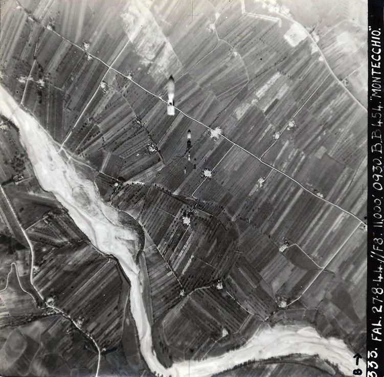 Aerial bombing Montecchio