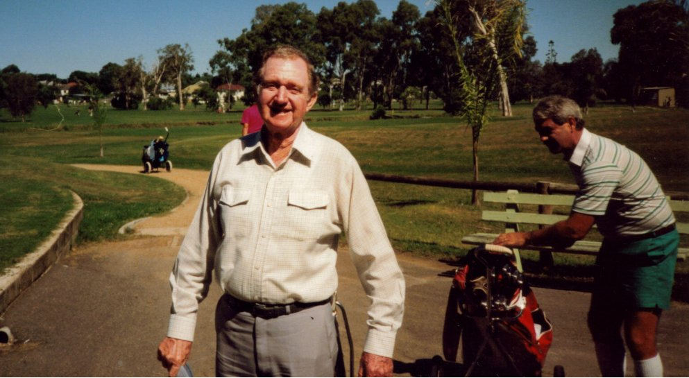 Blue at above Wynnum Golf Club in the 90s