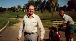 Blue at above Wynnum Golf Club in the 90s